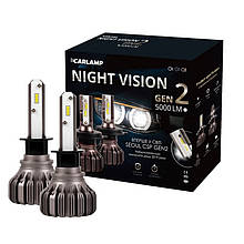 Светодиодные автолампы H1 Carlamp Led Night Vision Gen2 5000 Lm 5500 K NVGH1