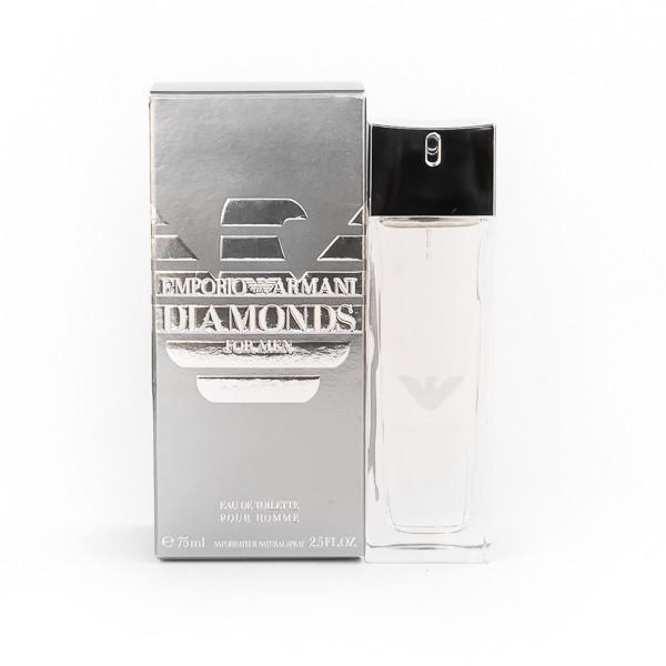 Мужские духи GIORGIO ARMANI Emporio Armani Diamonds for Men 75ml, древесный аромат с нотой какао ОРИГИНАЛ
