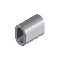 Зажим алюминиевый (алюминиевая втулка) М 2.0 для троса и каната DIN 3093