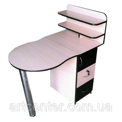 Маникюрный стол складной  с ящиками на замочках и полочкой для лаков