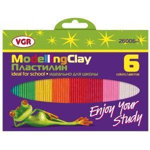 Пластилин VGR 26006-1 6 цветов, 100 гр