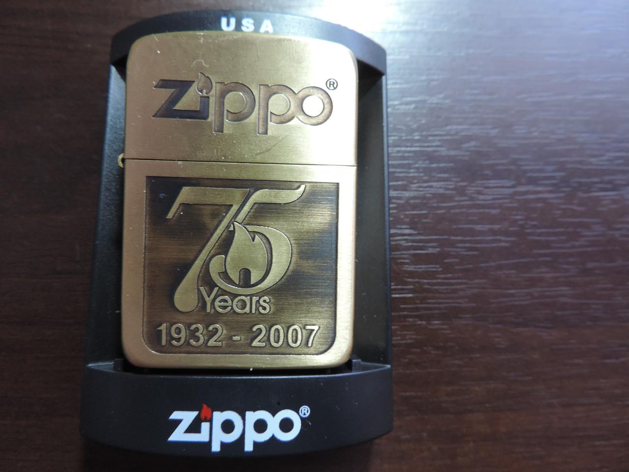 """Зажигалка Zippo """"Золотая юбилейная"""" копия"""