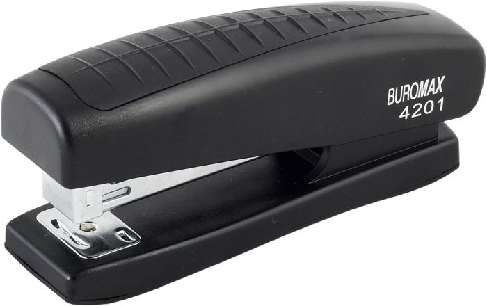 """Степлер """"BuroMAX"""" №24/6, 20арк BM.4201-01 чорний, фото 1"""