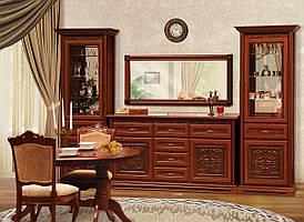 """Меблі в вітальню  """"Лаціо"""" 3.6м  від Світ меблів (прованс темний)."""