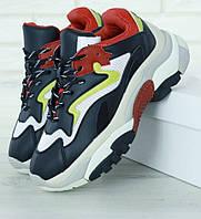 Женские кроссовки Ash Addict Trainers Sneakers Black White. Живое фото (Реплика ААА+)