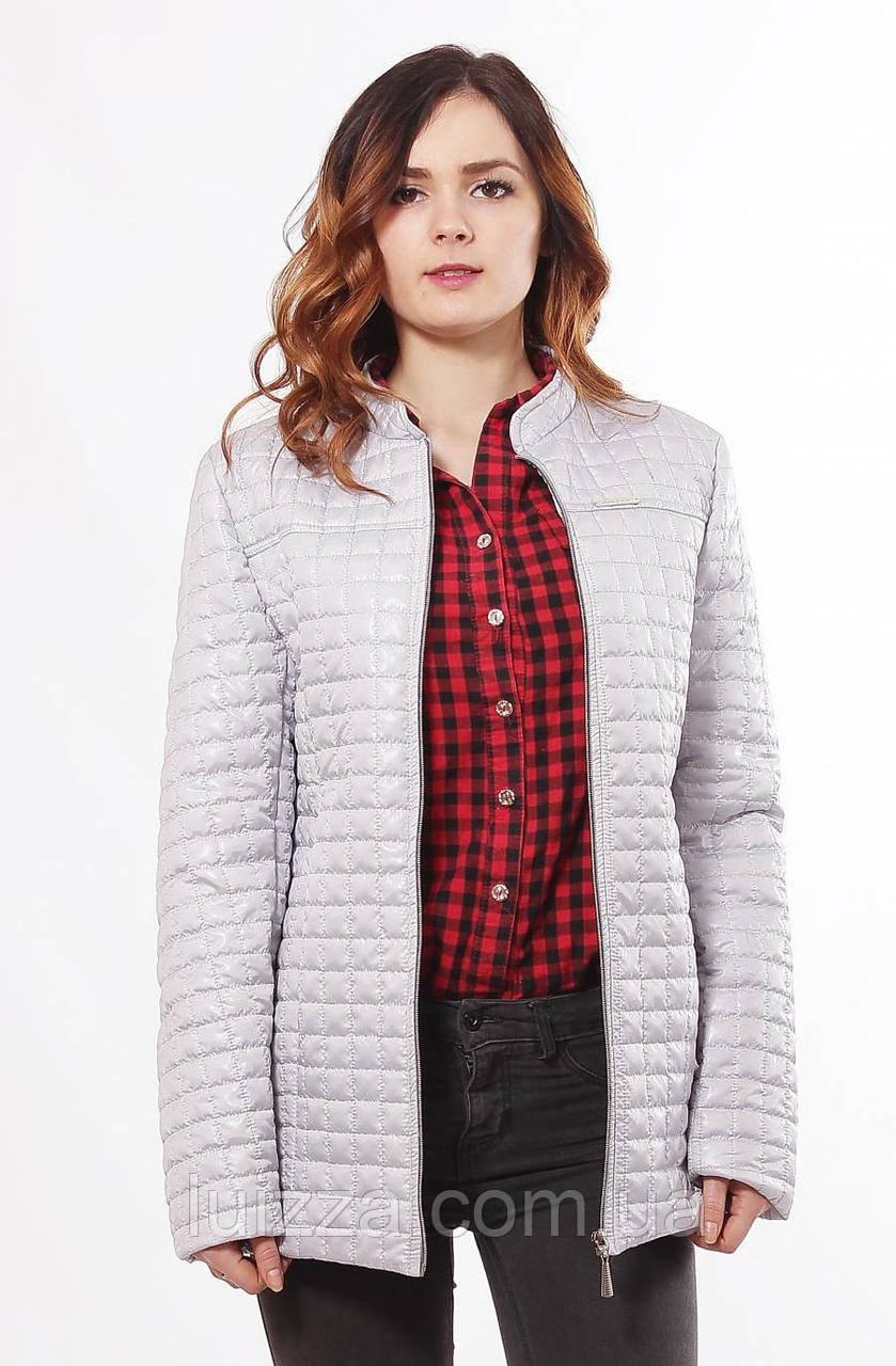 Бежевая женская куртка демисезонная 44-68