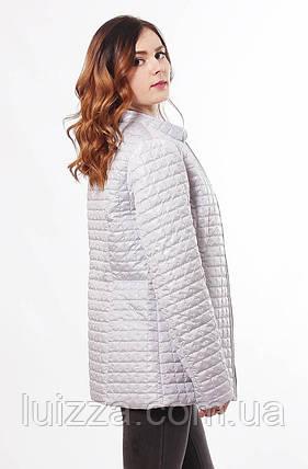 Бежевая женская куртка демисезонная 44-68, фото 2