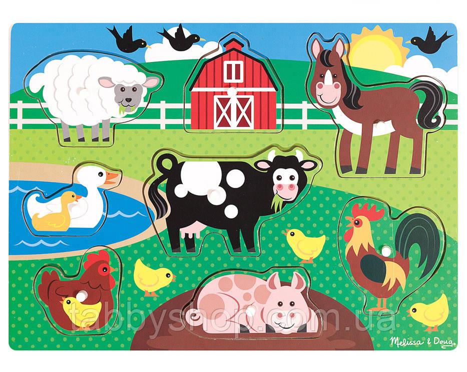 """Рамка-вкладыш Melissa & Doug """"Животные фермы"""""""