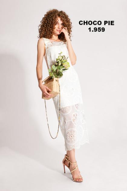 Платье белое CHOCO PIE 1.959 от Noche Mio