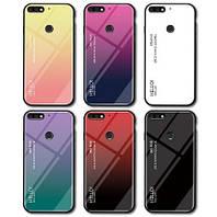 TPU+Glass чехол градиент для Huawei Honor 7A HELLO (Разные цвета)