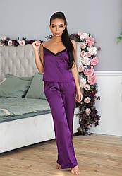Легкая шелковая пижама
