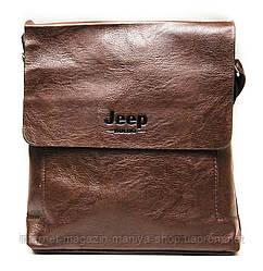 Сумка-портмоне мужская Jeep на магните с ремнем карман сзади 24*25 см