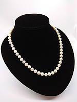 Перлове намисто з річкових перлів ідеально білого кольору