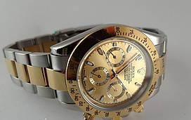 Механика Rolex Daytona ролекс механические часы мужские золото-серебро с золотым циферблатом