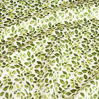 44004 Лиственная. Ткань с изображением листочков. Натуральные ткани с рисунком.
