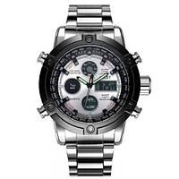 Чоловічий наручний годинник AMST 3022 з металевим браслетом Чорно-Срібний (SUN3368)