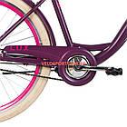 Городской велосипед Dorozhnik Lux PH 26 дюймов сливовый, фото 5