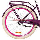 Городской велосипед Dorozhnik Lux PH 26 дюймов сливовый, фото 6