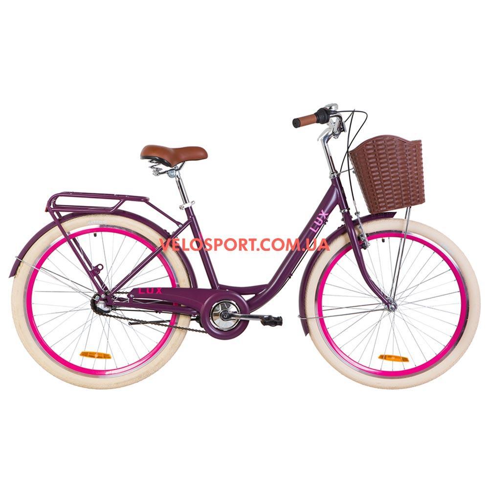 Городской велосипед Dorozhnik Lux PH 26 дюймов сливовый