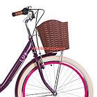 Городской велосипед Dorozhnik Lux PH 26 дюймов сливовый, фото 2