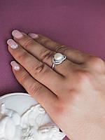 Кольцо из серебра с цирконием и жемчугом