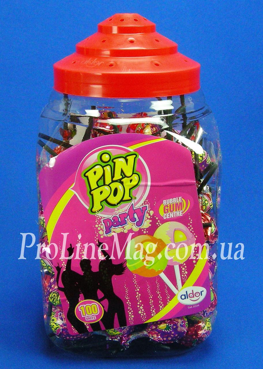 Леденец с жевательной резинкой PIN POP Party