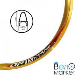 """Обод 28"""" Weinmann DP18 (золотистый) алюминиевый, двухслойный, 36 отверстий под спицы"""