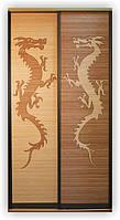 """Фасад для шкафа-купе """"Дракон"""", бамбук"""
