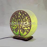 Соляная лампа круглая Дерево 2