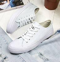 Кеды Converse All Star Женские конверс - all white (конверсы низкие). Топ  Реплика 92a6111efab69