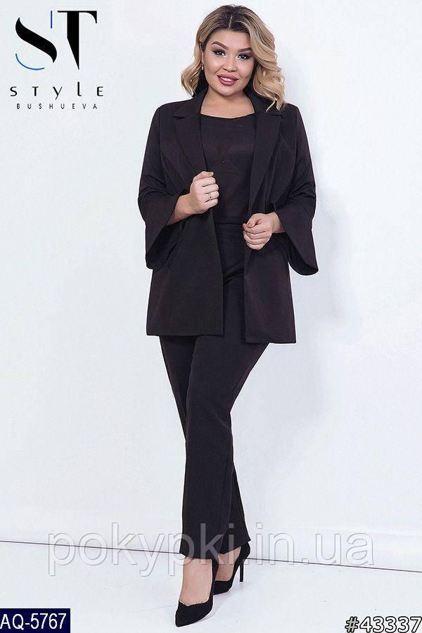 9e635922fb1 Купить Деловой женский костюм пиджак и брюки батальных размеров ...