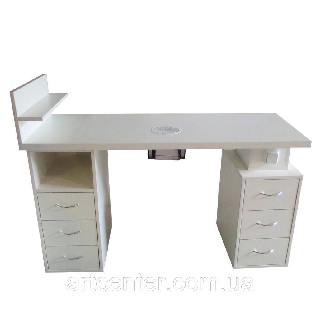 Маникюрный стол двухтумбовый, стол для маникюра