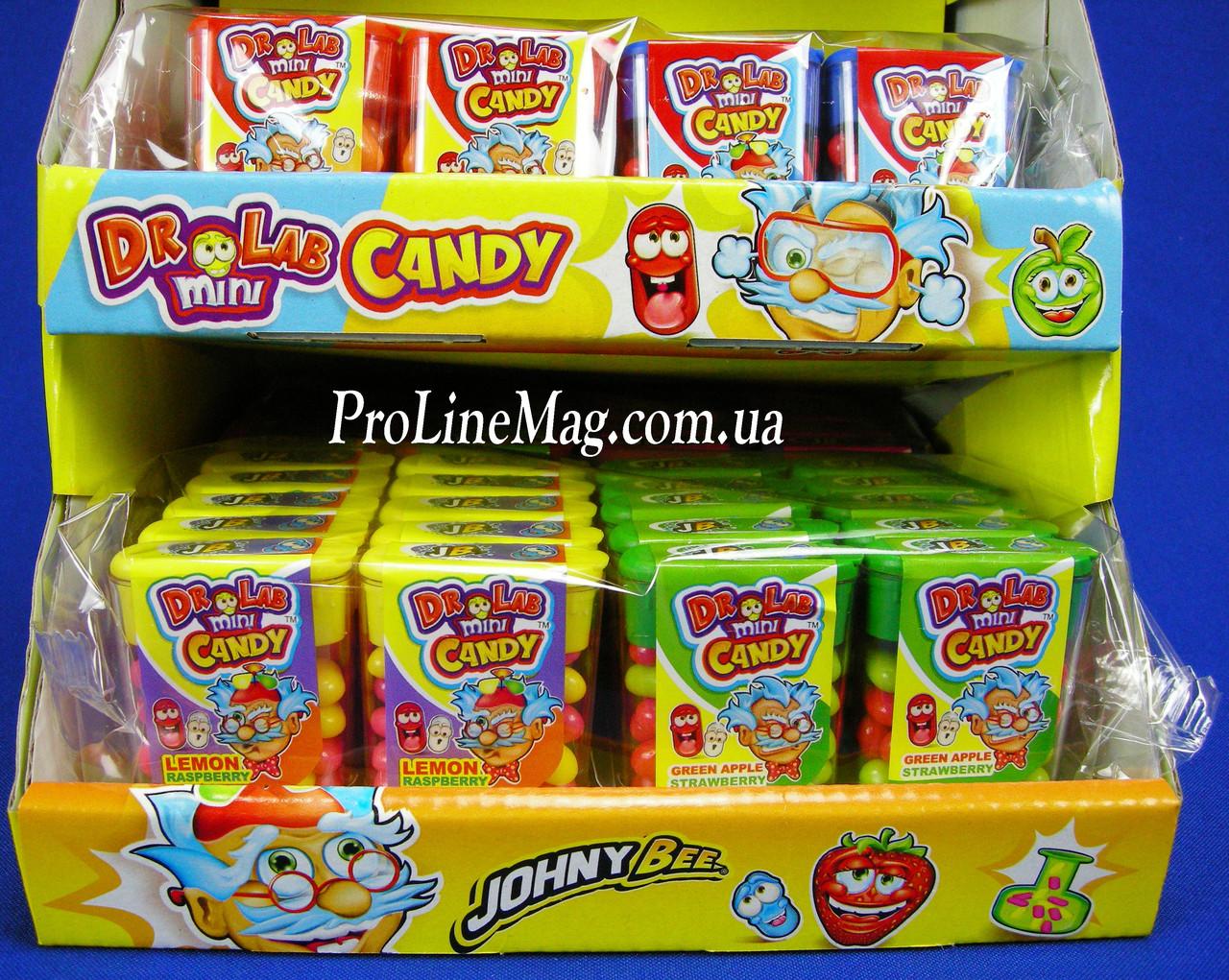 Конфеты - драже JOHNY BEE® Dr Lab Mini Candy+ Stand