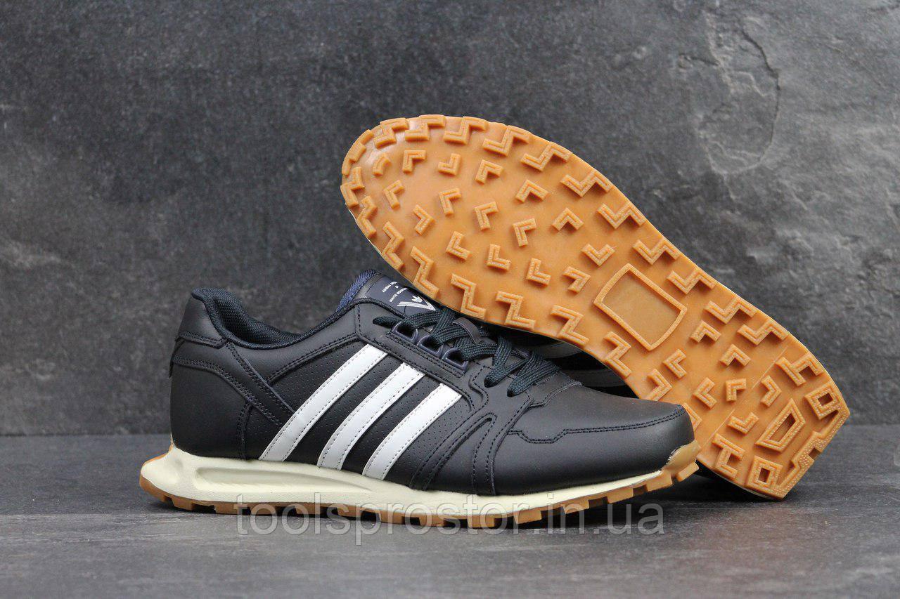 Кроссовки мужские Adidas Neo темно синие 4301 (чоловічі адідас взуття  спортивне обувь спортивная) - 5ed6b57ba79a1