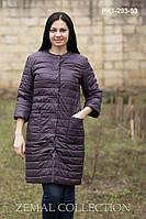 Женское пальто прямого силуэта с застежкой на потайные кнопки ... d2788a369ddfe
