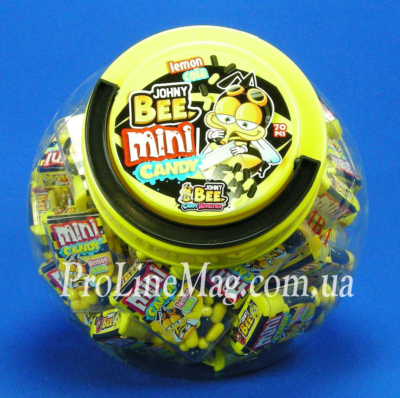 Конфеты - драже JOHNY BEE® Mini Candy Soccer Cola & Lemon