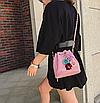 Сумка женская через плечо с цветами Flowers Розовый, фото 6