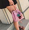 Сумка жіноча через плече з квітами Flowers Рожевий, фото 7