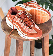 Женские кроссовки Nike Air Max 95 brown gum. Живое фото (Реплика ААА+), фото 1