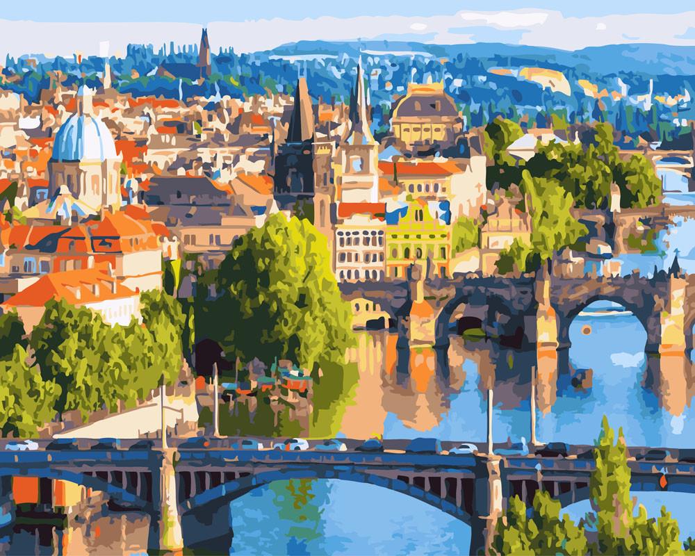 Картина по номерам Мосты Праги, 40x50 см., Rainbow art