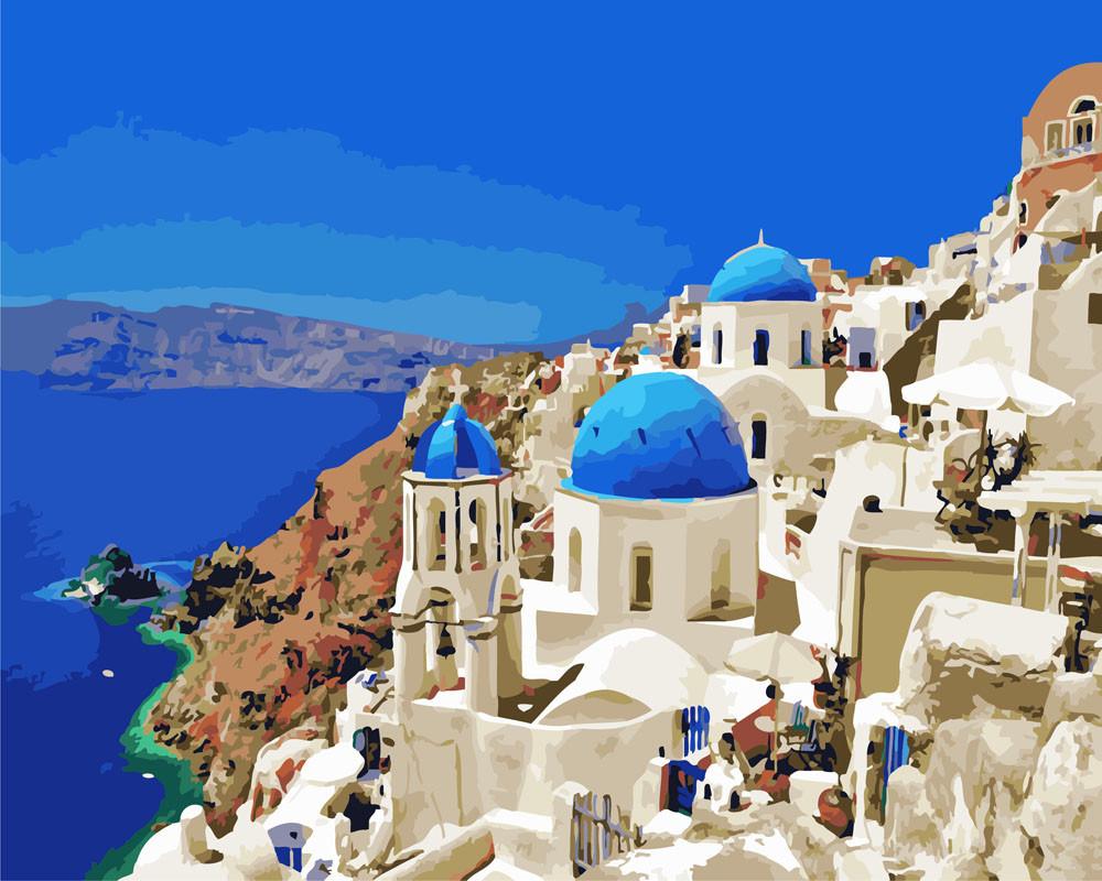 Картина по номерам Белоснежная Греция, 40x50 см., Rainbow art