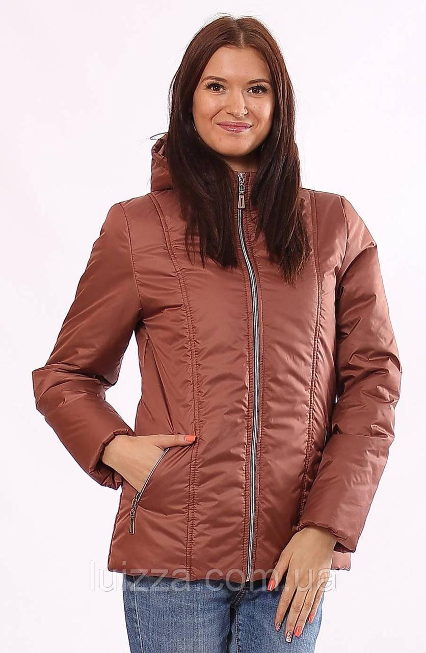 Женская куртка демисезонная коричневая 32-72