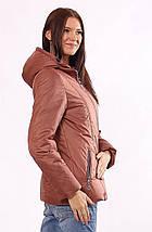 Женская куртка демисезонная коричневая 32-72, фото 2