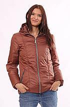 Женская куртка демисезонная коричневая 32-72, фото 3
