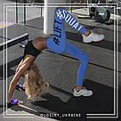 Lift squat голубые леггинсы для фитнеса №8b — лосины спортивные, легинсы для спорта узкие брюки, фото 4