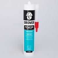 Герметик GROVER S100 силиконовый санитарный прозрачный 300мл