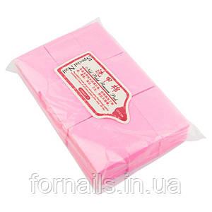 Безворсовые салфетки жесткие Special Nail 6х4см, 1000 шт, розовые