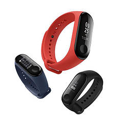 Фитнес-браслет Xiaomi Mi Band 3 Копия! Цвет Чёрный 01094