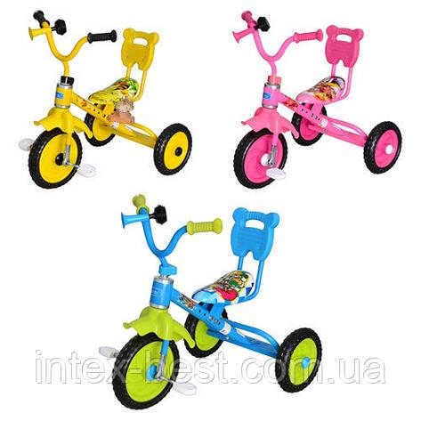Трехколесный велосипед M 1190Y (Желтый), фото 2
