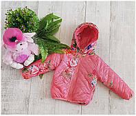 Куртка  для девочек  а-026  демисизонная 4-7 лет цвет розовый, фото 1